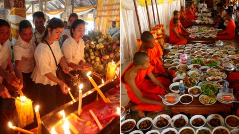 Cambodians on Wednesday began their traditional 15-day Pchum Ben festival to pay respects to deceased relatives. (Photo: AP)