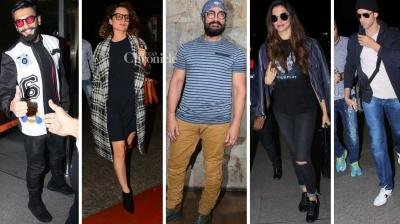 Several Bollywood stars were snapped at various locations in Mumbai on Monday. (Photo: Viral Bhayani)