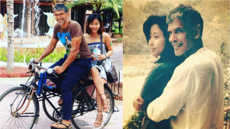 Milind Soman shared the pictures on Instagram.