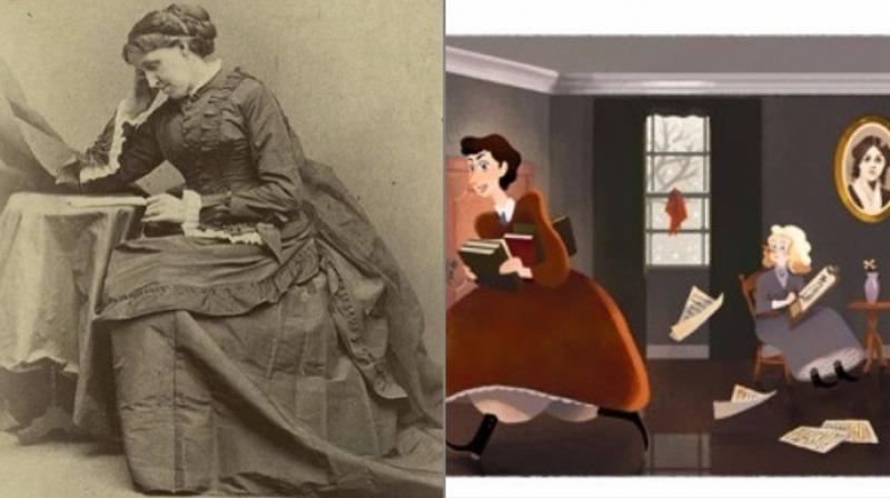 Google doodle honours Louisa May Alcott