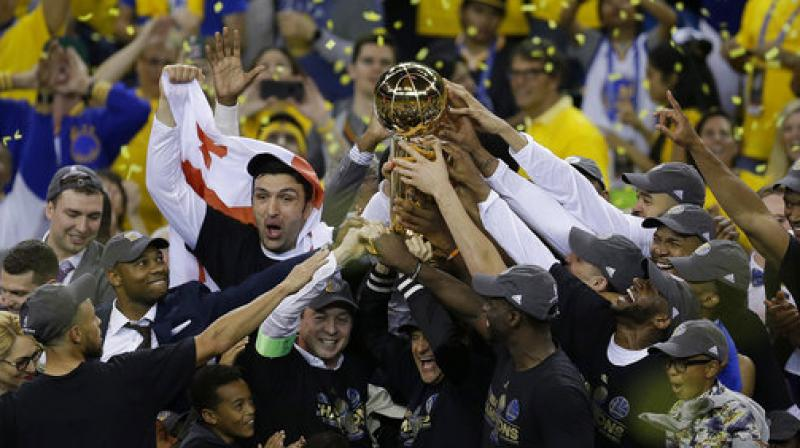 Kevin Durant shares his thoughts right after Warriors win National Basketball Association title