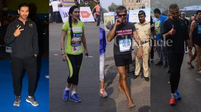 Celebrities made it a point to flaunt their fitness levels and ran for a good cause. (Photo: Viral Bhayani)
