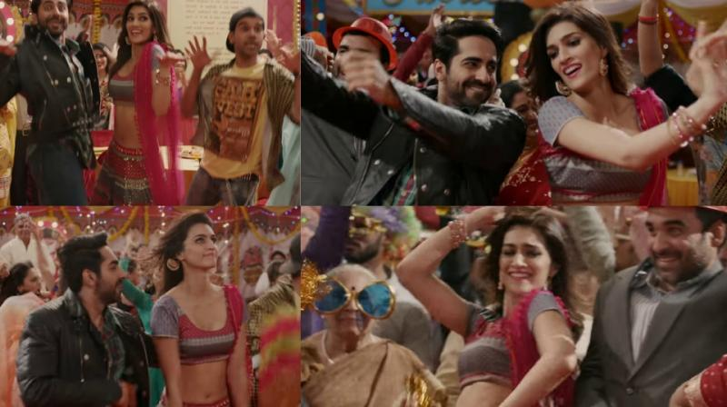 Kriti, Ayushmann, Rajkummar show off their thumkas in Bareilli Ki Barfi song