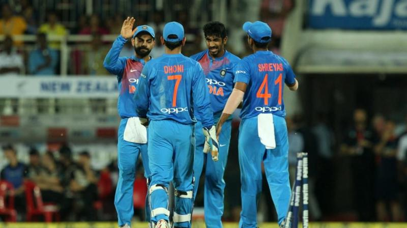 Virat Kohli said that Rohit Sharma and MS Dhoni came up with Jasprit Bumrah bowling the second last, and Hardik Pandya bowling the last over. (Photo:BCCI)