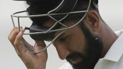 Cheteshwar Pujara scored just 15 runs as he failed to continue his good form from the first innings (Photo: AP)