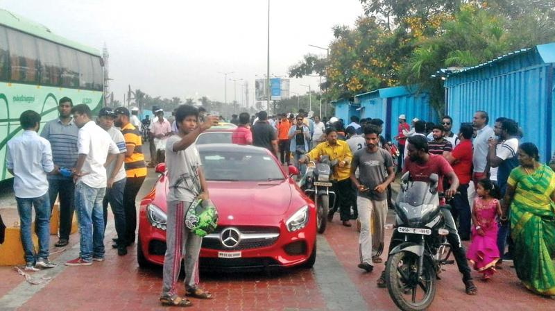 10 luxury cars seized for over-speeding in Chennai, one driver arrested