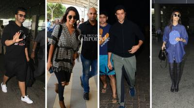 Arjun Kapoor, Shraddha Kapoor, Sonam Kapoor and other Bollywood stars were snapped at the Mumbai airport while Hrithik Roshan was spotted post his workout on Monday. (Photo: Viral Bhayani)