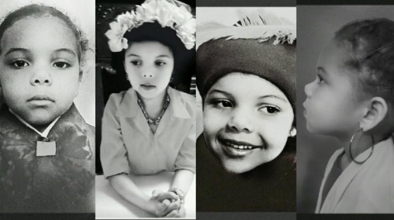 The girl Lola doing a project with her mother Cristi-Smith Jones dresses up as famous black people to commemorate Black History Month. (Photo: Twitter/Cristi-Smith Jones)