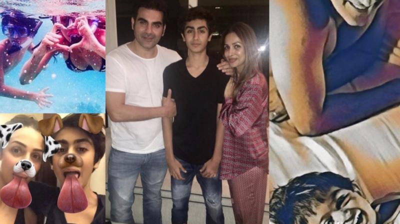 Malaika and Arbaaz Khan celebrate son Arhaan's birthday together