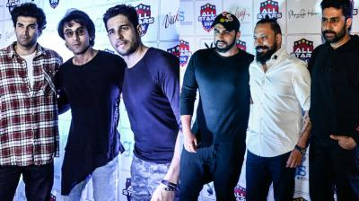 Bollywood stars were spotted as they celebrated the five-year anniversary of their football club, All Star Football Club, at a Mumbai nightclub. (Photo: Viral Bhayani)