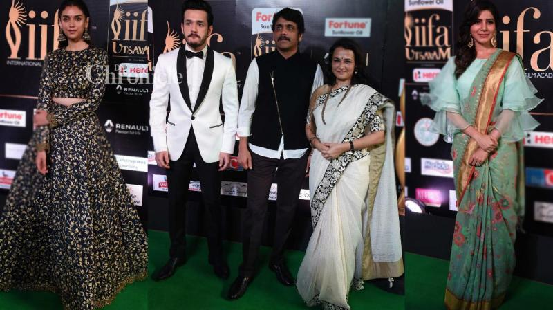 Film stars came out in their stylish best for day two of the IIFA Utsavam 2017 held in Hyderabad on Wednesday. (Photo: Viral Bhayani)