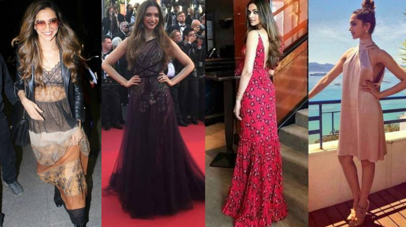 Deepika Padukone, who is making her debut at the Cannes film festival this year, has been turning heads with her fashion sense and is having a ball at the festival.