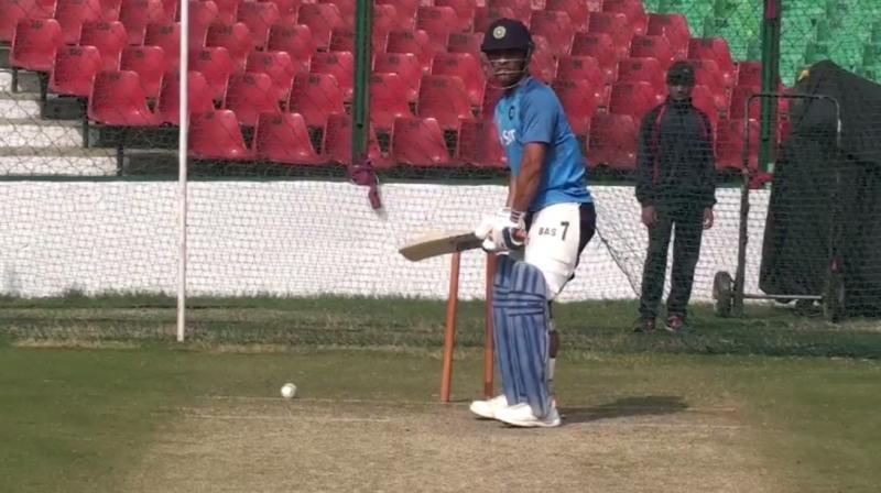 Video: MS Dhoni slogs a few in net practice