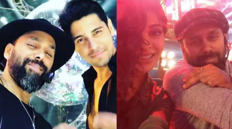 Jacqueline and Sidharth shoot for A Gentleman's big disco track