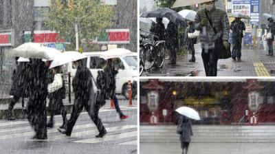 Tokyo residents woke up Thursday to the first November snowfall in more than 50 years. And the Japan Meteorological Agency said it was the first time fallen snow on the ground was observed in November since such records started to be taken in 1875.