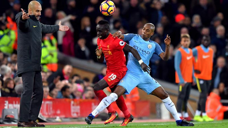 Sadio Mane sees red as Man City run riot against Liverpool