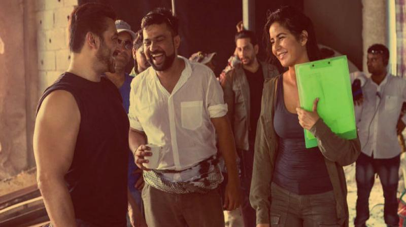 Katrina Kaif joins Angad in shooting practice!