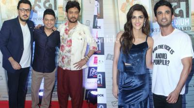 The team of 'Hindi Medium' held a bash to celebrate the succcess of the film in Mumbai on Saturday. (Photo: Viral Bhayani)