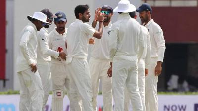 Bhuvneshwar Kumar got Ina a breakthrough as he removed the openers. (Photo: BCCI)