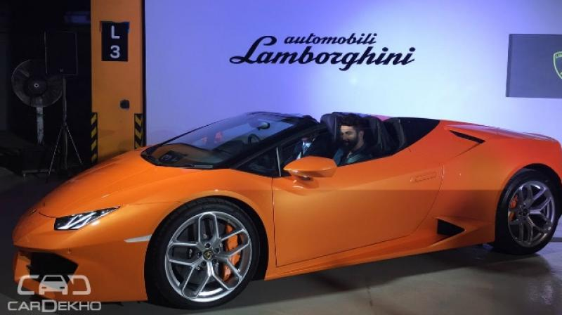 lamborghini introduces huracan rwd spyder at rs crore. Black Bedroom Furniture Sets. Home Design Ideas