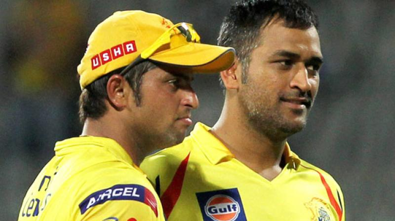 It is learnt that Chennai Super Kings will retain MS Dhoni and let go Suresh Raina ahead of IPL 2018. (Photo: PTI)