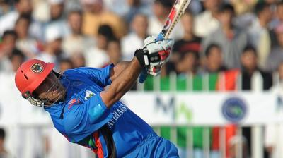 Mohammad Nabi in action for Afghanistan. (Photo: AFP)