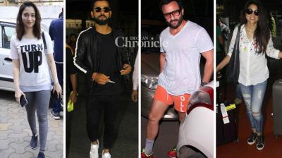 Several B-Town celebrities were spotted at various locations in Mumbai on Thursday. (Photo: Viral Bhayani)