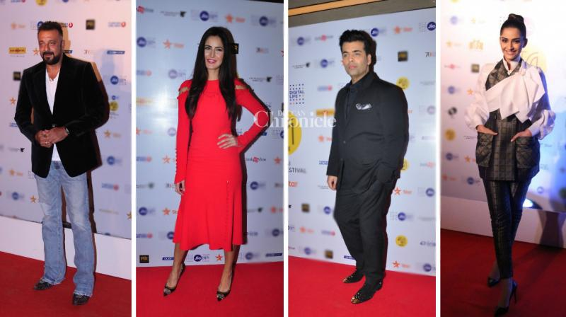 B-Town celebrities came out in style to attend the MAMI film festival in Mumbai on Thursday night. (Photo: Viral Bhayani)