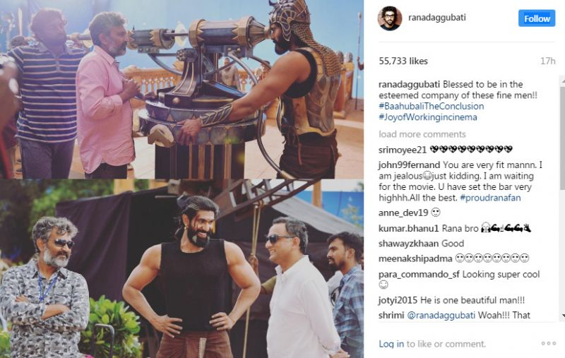 These behind-the scenes pictures from Baahubali 2 are a visual delight