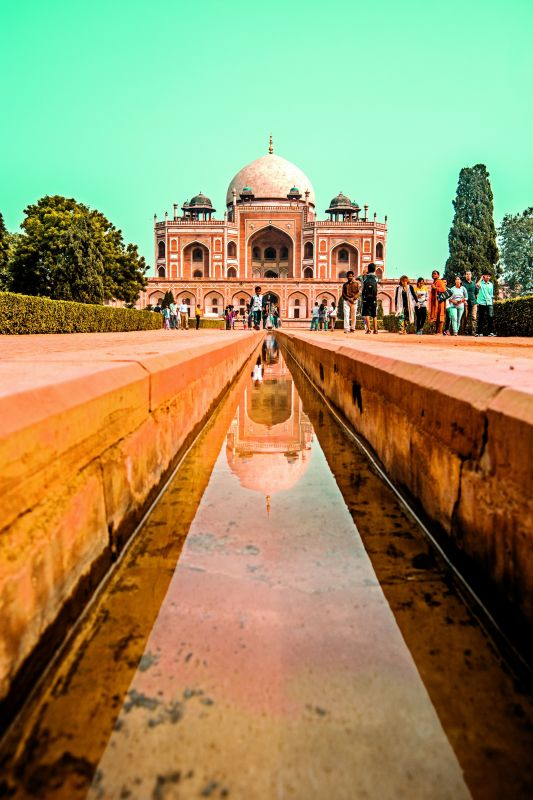 A view of Humayun's tomb in Delhi.