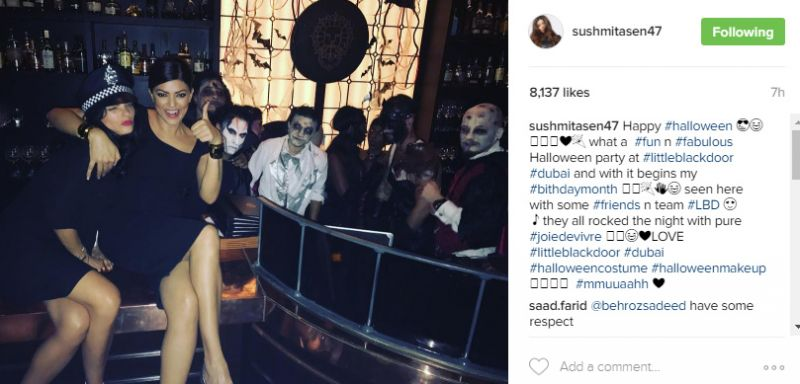 Sushmita Sen Halloween Party Dubai