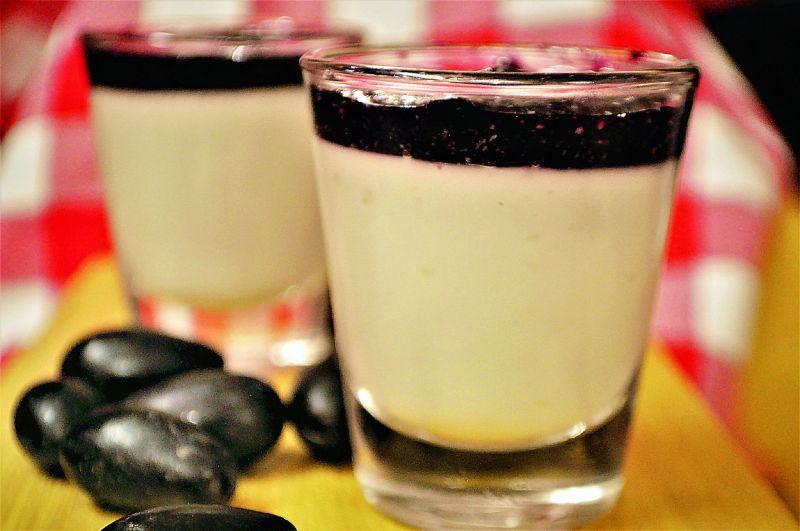 Vanilla Panna cotta and Black Grape Compote