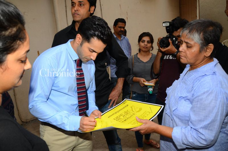 Varun also lent his support to the initiative.
