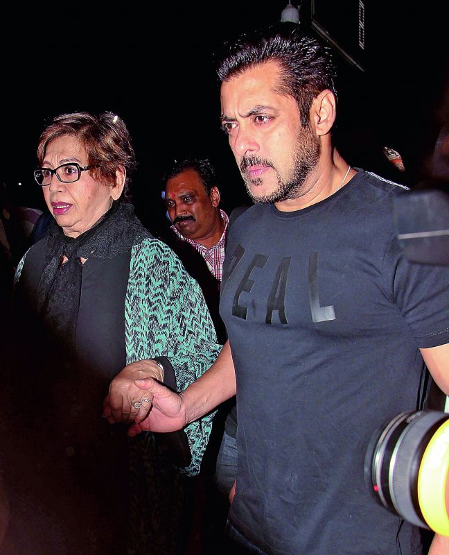 Family first: Salman Khan lives with his whole family.
