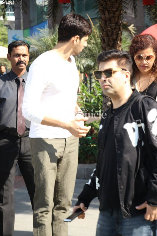 Karan Johar also stepped out with Sidharth.