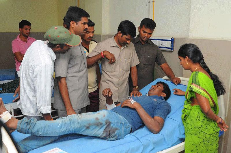The injured have been taken to the Nandigama Government Hospital, said reports.