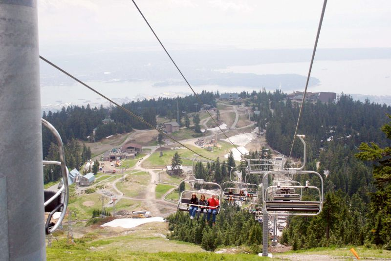 Coming down from the Grouse Mountain.