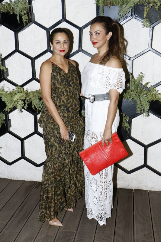 Amrita Arora and Seema Khan came out in style for the evening.