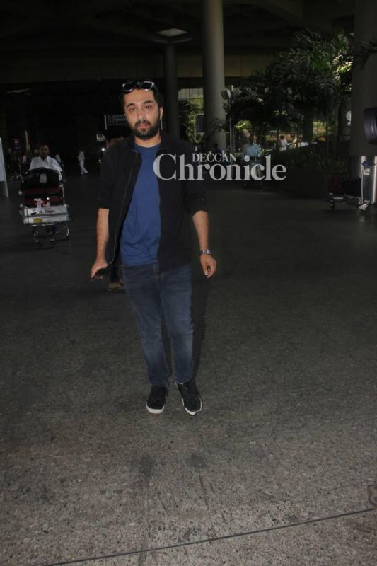 Siddhanth Kapoor was snapped exiting the airport.