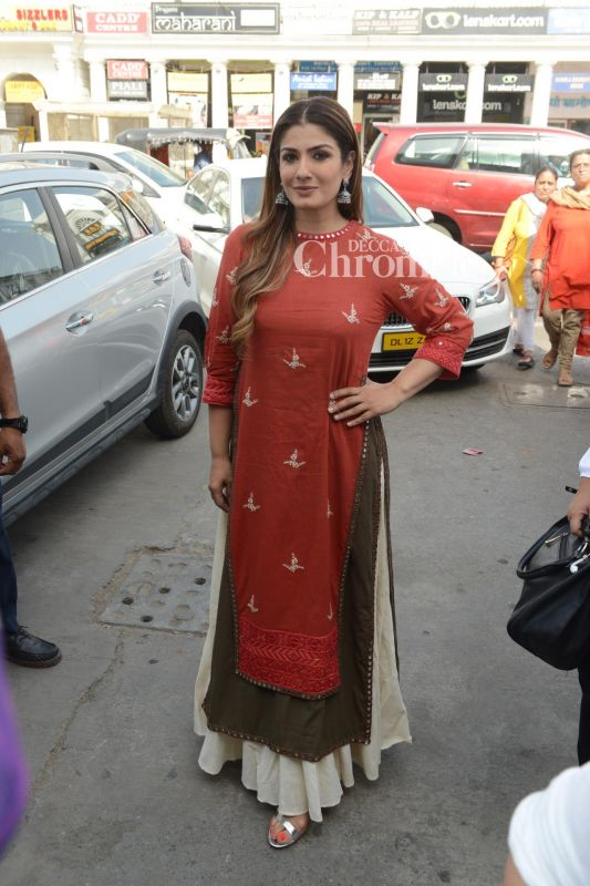 Raveena Tandon was spotted during the promotions of 'Maatr.'