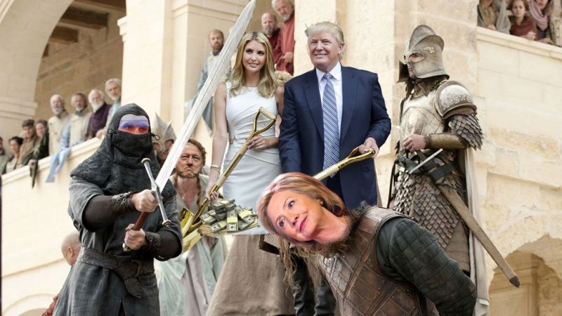 They even fit in the scene where Ned Stark is beheaded; almost looking like a party of them.