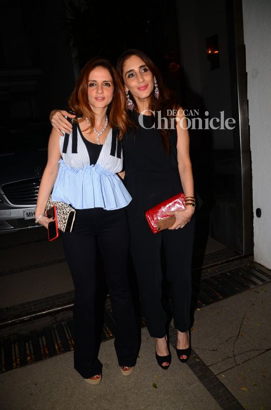 Sussanne and her sister Farah were seen in Juhu.