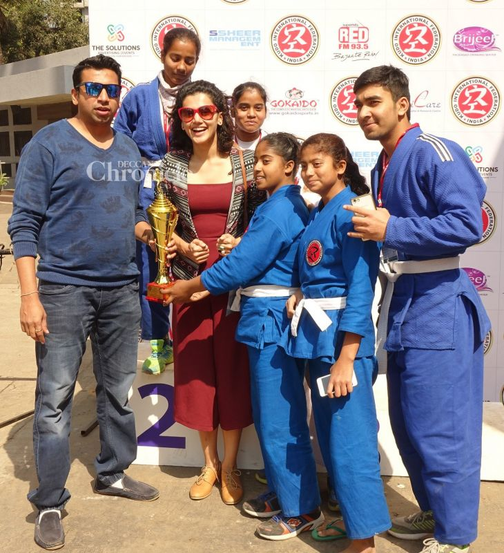 Taapsee Pannu was seen at a Kudo competition.