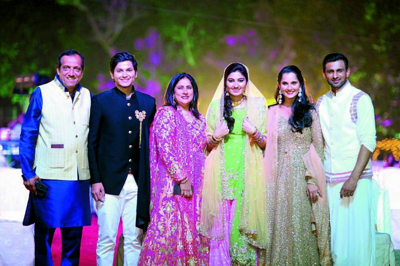 Image result for sania mirza sister Sangeet pictures