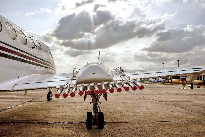 Cloud seeding is a form of weather modification, to change either the amount or type of precipitation by dispersing substances into the air that serve as cloud condensation or ice nuclei, and alter the microphysical processes within a cloud.