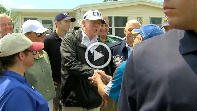 """We are there for you 100%"": Trump to Irma victims"