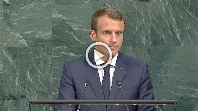 Macron tells U.N. door always open for U.S. to return to climate deal