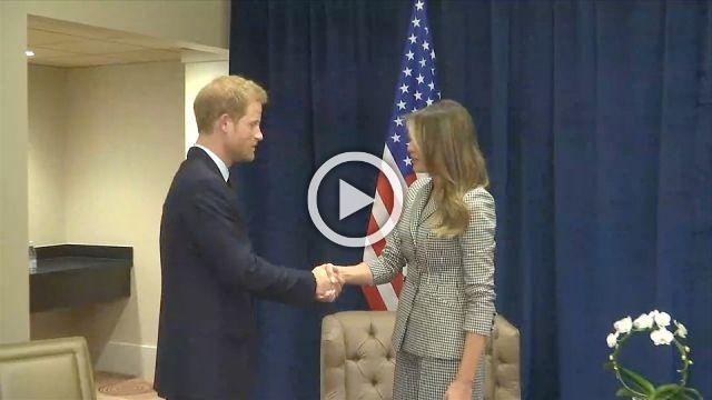 Melania Trump meets Prince Harry, the Trudeaus in Canada