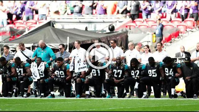 NFL players kneel and link arms in show of unity, defiance of Trump