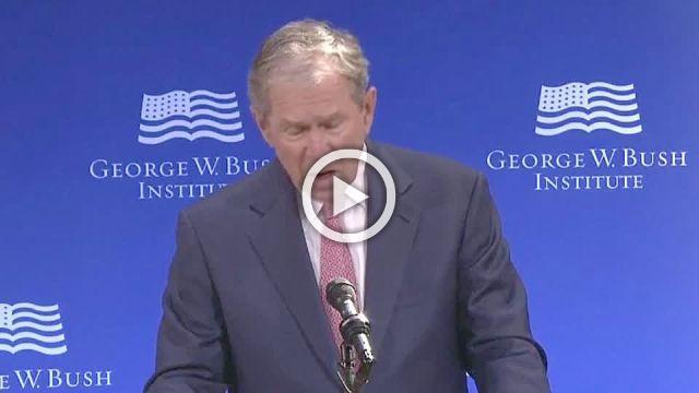 """Bigotry seems emboldened"": George W. Bush"